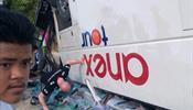 Автобус с россиянами оказался в овраге