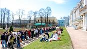 В Екатерининском дворце Петергофа самые экстремальные условия приема посетителей