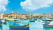 Культовый залив Марсашлокк - на Мальте