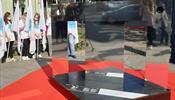 В центре С-Петербурга появилась зеркальная буква «Т»