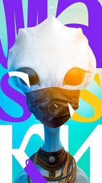Планетарий 1 в Space Lab производит маски для лица