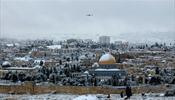 На Иерусалим обрушился снегопад