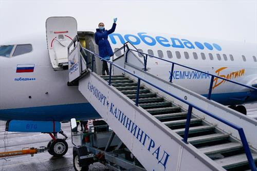 """Авиакомпания """"Победа"""" забрендировала один из своих самолетов в """"Жемчужину Балтики"""""""