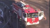 Пожарная машина в «Домодедово» наехала на пешеходов