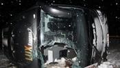 Автобус Lux Express кувыркнулся в Эстонии